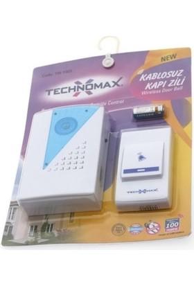 Technomax 24 Melodili Kablosuz Kapı Zili Mavi