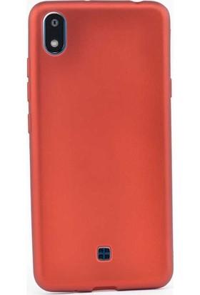 Case Street LG K20 2019 Kılıf Premier Silikon Esnek Koruma + Nano Glass Kırmızı