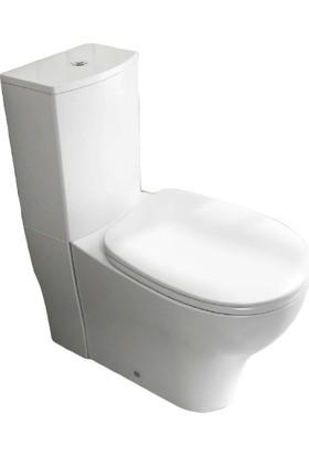 Ece Banyo Duvara Sıfır Takım Klozet Seti Pp Kapaklı 4'lü