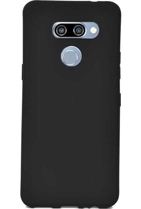 Case Street LG K50s Kılıf Premier Silikon Esnek Koruma + Nano Glass Siyah