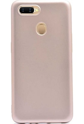 Case Street Oppo A5s Kılıf Premier Silikon Esnek Koruma + Nano Glass Gold