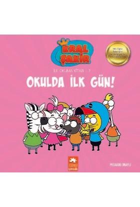 Kral Şakir İlk Okuma Kitabı 9: Okulda İlk Gün (Pedagog Onaylı) - Varol Yaşaroğlu