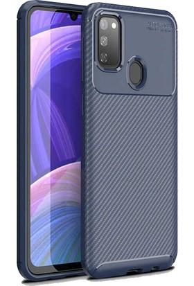 BizimGross Samsung Galaxy M30S Kılıf Şık Tasarım Widow Telefon Kılıfı Lacivert