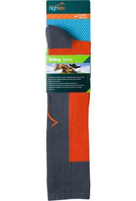 Hightex Binici Çorabı Riding Socks Gri Turuncu