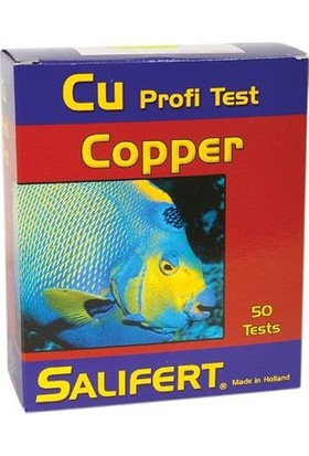 Salifert Cu Profi Test Copper (Bakır) 50 Test