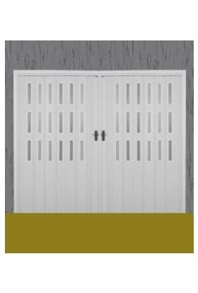 Erikmann Katlanır Akordiyon Pvc Kapı Camlı Çift Açılım Beyaz 192 x 207 cm