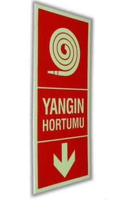 PassPano Pvc Fosforlu Sticker YANGIN HORTUMU Sembol 11,5 x 25 cm