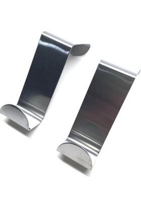 Emfa Kapı Arkası Metal Askı 4 Adet Metal Elbise Askısı