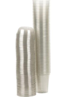 Folyo Term Plastik Kalın Bardak 350 cc Bardak 100 Adet + Kapak + Peçete
