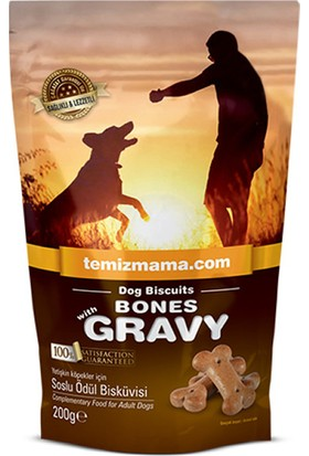 Bones Köpek Maması Bones With Gravy Soslu Ödül Bisküvisi 200 gr