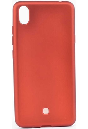 Tbkcase LG K20 2019 Kılıf Premier Lüks Silikon Kırmızı