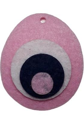 Dünya Hediye 4,5 cm Açık Pembe Nazar Boncuğu 10 Adet