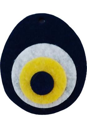 Dünya Hediye Keçedem 4,5 cm Lacivert 10 Nazar Boncuğu