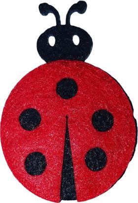 Dünya Hediye 5 cm Kırmızı Uğur Böceği 10'lu Paket