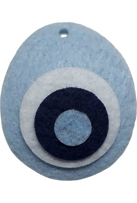 Dünya Hediye 4,5 cm Açık Mavi Nazar Boncuğu 10 Adet