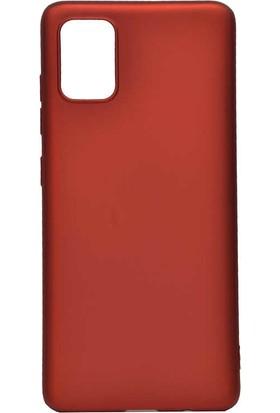 Fujimax Samsung Galaxy A70 Premier Silinebilir Soft Silikon Kılıf Kırmızı