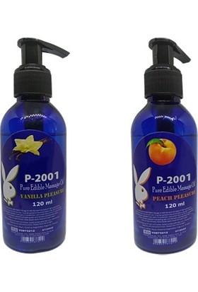 P-2001 Vanilya Aromalı Anal Kayganlaştırıcı + Şeftali Aromalı Anal Kayganlaştırıcı 2 Adet Set Masaj Yağı