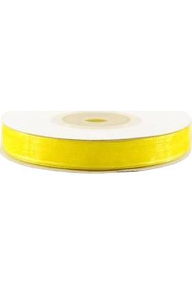 Güzel Şeyler Hobi Organze Tül Kurdele 1 cm Sarı 20 Mt.