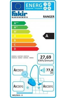 Fakir Ranger 890 W Toz Torbasız Süpürge