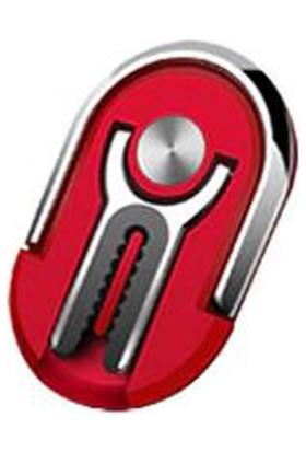 Hicuc CP-113 Popsocket Telefon Standı / Dock Yüzük/araç Telefon Tutucu Kırmızı