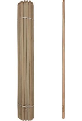 Imza Ahşap Fırça Sapı 150 cm Boyu Gürgen Ağacı 30'lu