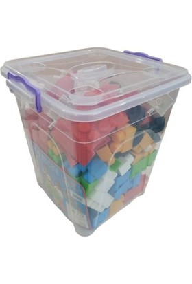 Enhoştoys Enhoş Toys 140 Parça Şeffaf Kutuda Büyük Boy Yaratıcı Bloklar