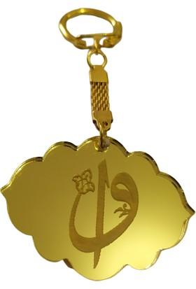 Elizi Vav Elif 10'lu Pleksi Anahtarlık Gold