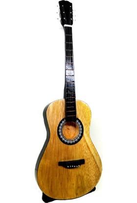 Ramosis Gitar Dekoratif Ahşap Biblo El Işçiliği Naturel