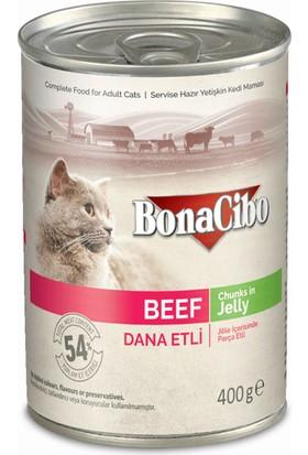 Bonacibo Jöleli Dana Etli Yaş Kedi Maması 400 gr x 12 Adet