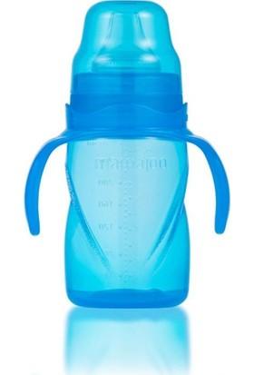 Mamajoo Kulplu Eğitici Bebek Bardağı 270 ml Mavi