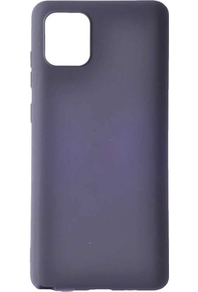 Teleplus Samsung Galaxy A81 Kılıf Lüks Mat Silikon Siyah + Tam Kapatan Ekran Koruyucu