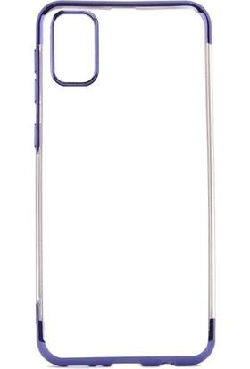 Teleplus Samsung Galaxy A81 Kılıf Lüks Lazer Silikon Mavi