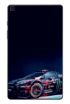 """GoGo Samsung Galaxy Tab A 8.0"""" T290/295/297 Modifiyeli Yazılı Araba Baskılı Silikon Kılıf"""