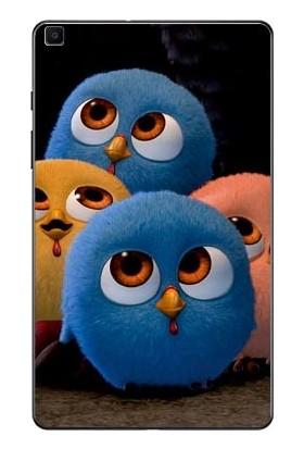 """GoGo Samsung Galaxy Tab A 8.0"""" T290/295/297 Minik Kuşlar Baskılı Silikon Kılıf"""