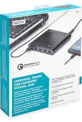 Dıgıtus DA-10193 Universal Notebook 5 Port USB Seyehat Şarj Çoklayıcı