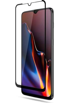 KNY Samsung Galaxy A01 Kenarı Kırılmaya Dayanıklı Full Yapışan 5D Cam Ekran Koruyucu Siyah