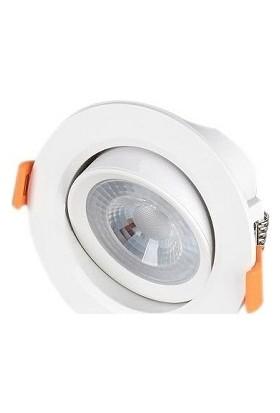 Cata 5W Cob LED Downlıght Armatür Beyaz Gövde Beyaz Işık CT-5204-B