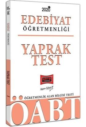 Yargı Yayınevi 2020 ÖABT Türk Dili Ve Edebiyatı Öğretmenliği Yaprak Test