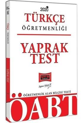 Yargı Yayınevi 2020 ÖABT Türkçe Öğretmenliği Yaprak Test