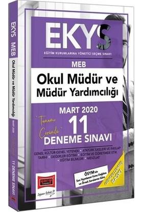 Yargı Yayınevi 2020 EKYS Meb Okul Müdür Ve Müdür Yardımcılığı Tamamı Çözümlü 11 Deneme Sınavı