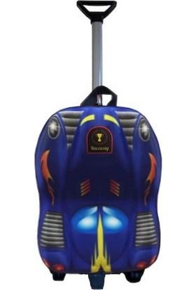 Ewason Batman Araba Kabartma Desenli Anaokulu Ve Günlük Kullanım Çekçekli Tekerlekli Çanta 2İn1 Anaokulu Çanta