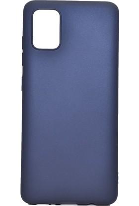 Tekno Grup Samsung Galaxy A81 (Note 10 Lite) Kılıf Mat Premium Silikon Kılıf Lacivert