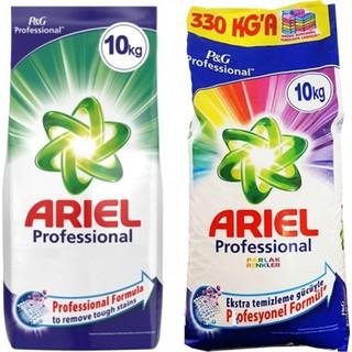 Ariel Professional 10 kg Beyazlar + Ariel Professional 10 kg Parlak Renkler Toz Deterjan