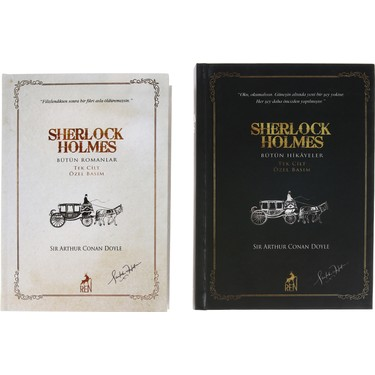 Sherlock Holmes Bütün Eserleri (Ciltli) Set - Sir Arthur Kitabı