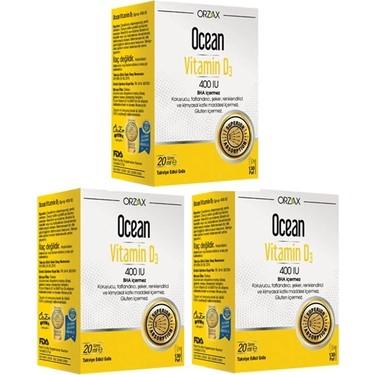 Orzax Ocean Vitamin D3 400 Iu Sprey 20 Ml 3 Adet Fiyati