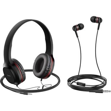 Hoco W24 Kablolu Kulaklık Seti - Kulak Üstü ve Kulak İçi Fiyatı
