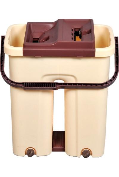 Mila Store Magic Flat Mop Temizlik Seti Büyük Boy 360 Derece Başlık + Yedek Mop