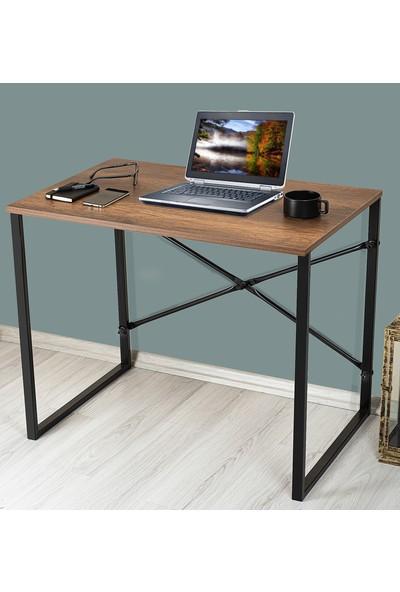 Ms Çalışma Masası Bilgisayar Laptop Masası Koyu