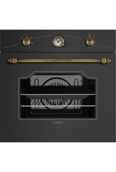 Lanova Ankastre Rustik Siyah Üçlü Set