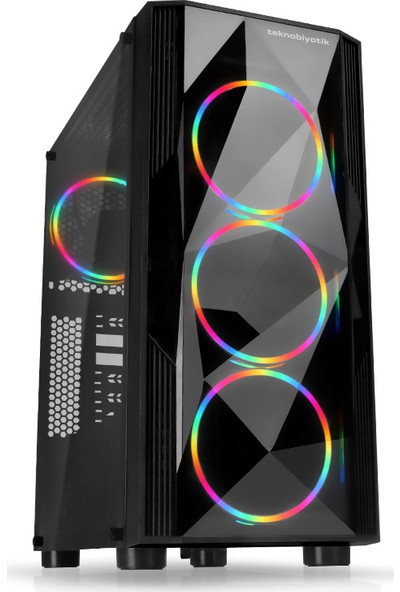 Teknobiyotik P1 AMD Ryzen 5 2600 8GB 480GB SSD RX590 Freedos Masaüstü Bilgisayar DK-PC-P1